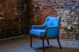 Empty chair in a room